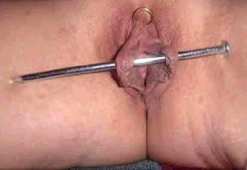 Absurd piercing the clitoris needles torture really. agree